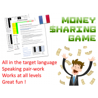 French speaking activity : French numbers : Money Sharing Game
