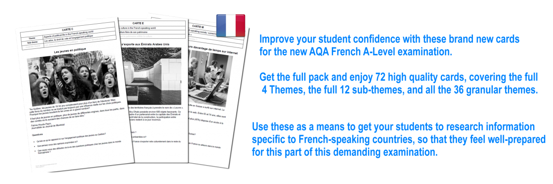A-Level photo cards for AQA French